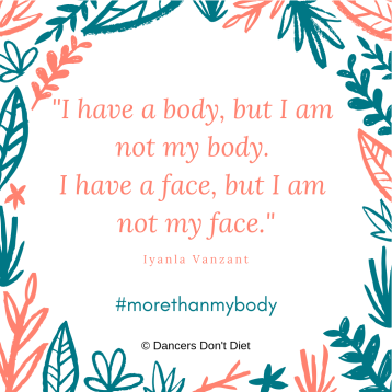 I have a body, but I am not my body. I have a face, but I am not my face