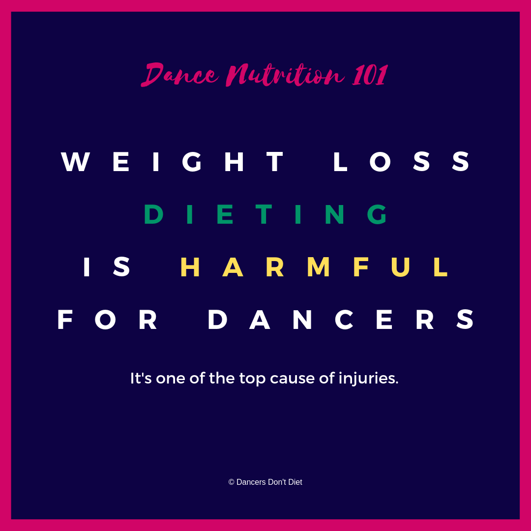 DDD - DN101 - weight loss is harmful for dancers