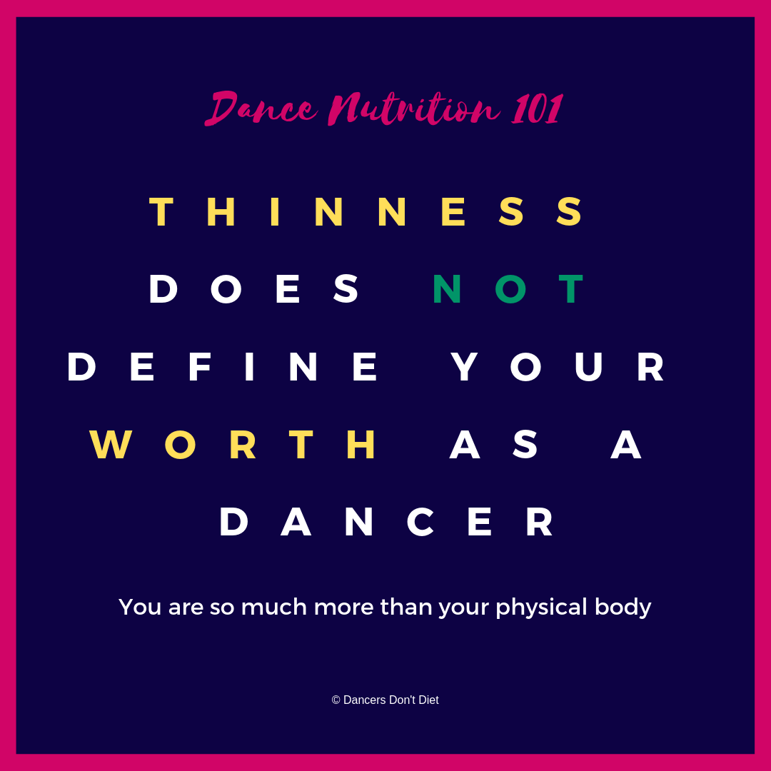 DN101 - thinness does not define your worth as a dancer