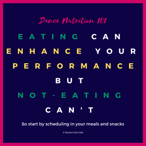 DN101 - Eating can enhance your performance, but not-eating can't