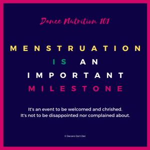 dn101 - menstruation is an important milestone