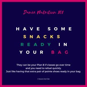 DN101 - have some snacks ready in your bag